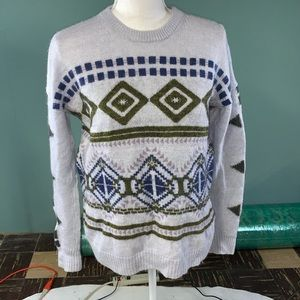 J. Crew abstract fair isle sweater